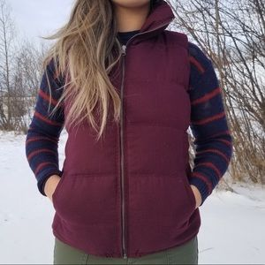 Old Navy Red/Maroon Puffy Vest